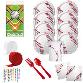 Baseball Deluxe Tableware Kit (Serves 8)
