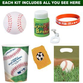 Baseball Favor Kit (for 1 Guest)