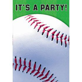 Baseball Folded Invitation (8 Pack)