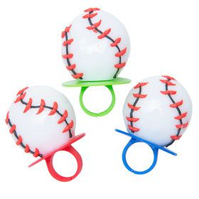 Baseball Lollipop Rings (3 Count)