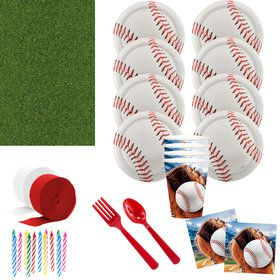 Baseball Party Deluxe Tableware Kit (Serves 8)