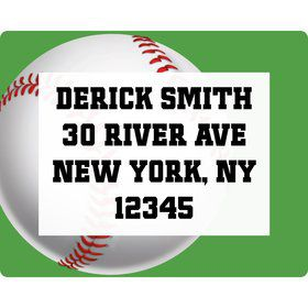 Baseball Party Personalized Address Labels (Sheet of 15)