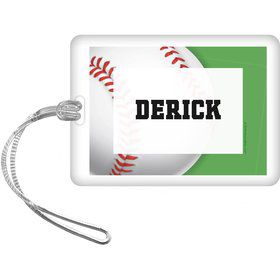 Baseball Party Personalized Bag Tag (each)