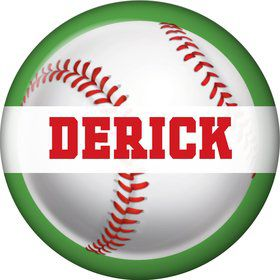Baseball Party Personalized Mini Magnet (each)