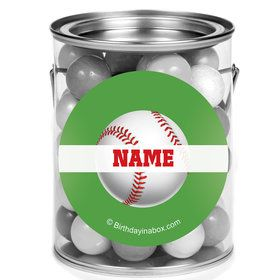 Baseball Party Personalized Mini Paint Cans (12 Count)