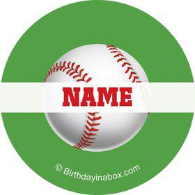Baseball Party Personalized Mini Stickers (Sheet of 24)