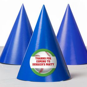Baseball Party Personalized Party Hats (8 Count)