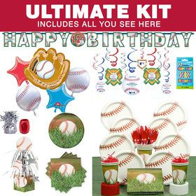 Baseball Party Ultimate Kit Serves 8 Guests