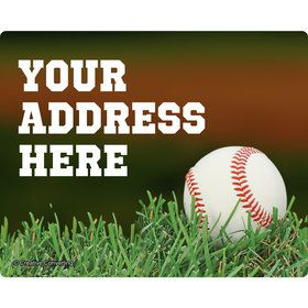Baseball Personalized Address Labels (Sheet of 15)