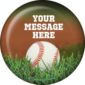Baseball Personalized Button (Each)