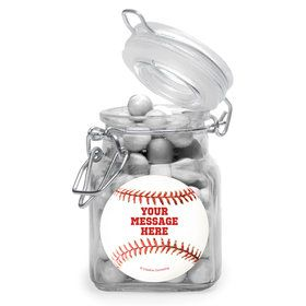 Baseball Personalized Glass Apothecary Jars (12 Count)