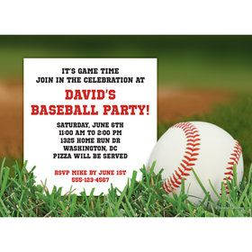 Baseball Personalized Invitation (Each)
