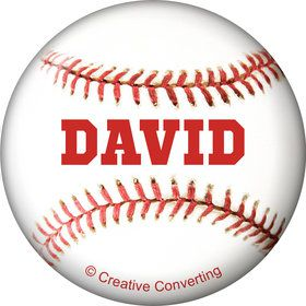 Baseball Personalized Mini Button (Each)