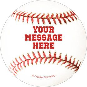 Baseball Personalized Mini Stickers (Sheet of 20)