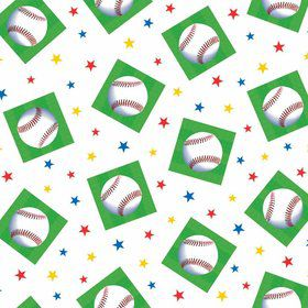 Baseball Plastic Table Cover (Each)