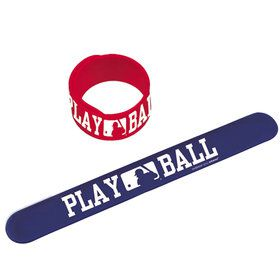 Baseball Slap Bracelets (6 pack)