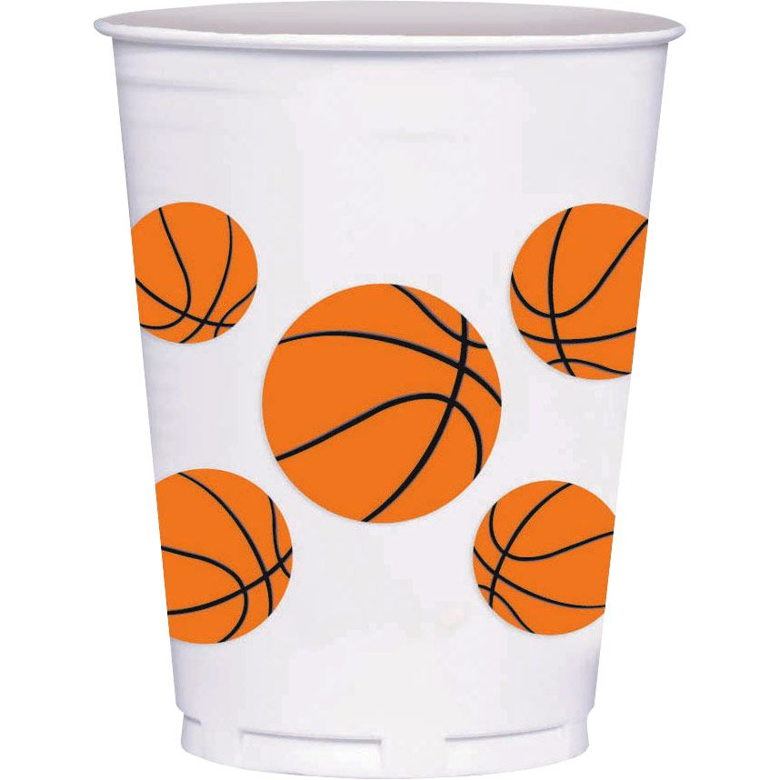 Basketball 14Oz Cups (8 Count) - Party Supplies BB429707