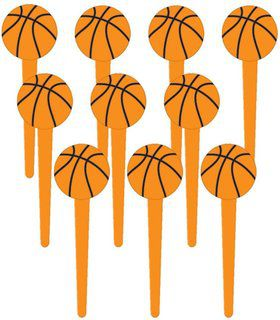 "Basketball 3"" Cupcake Picks (36 Pack)"