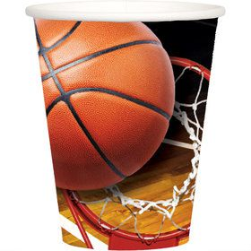 Basketball 9oz Cups (8)