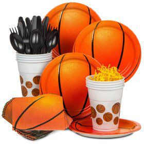Basketball Birthday Party Standard Tableware Kit Serves 8