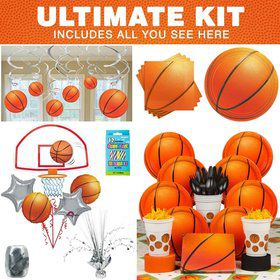 Basketball Birthday Party Ultimate Tableware Kit Serves 8
