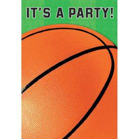 Basketball Folded Invitation (6 Pack)
