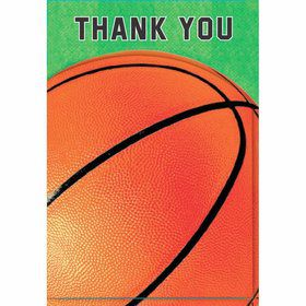 Basketball Folded Thank You Notes (6 Pack)