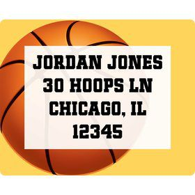 Basketball Party Personalized Address Labels (Sheet of 15)