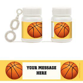 Basketball Party Personalized Bubbles (18 Pack)