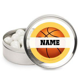 Basketball Party Personalized Candy Tins (12 Pack)