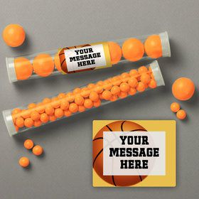Basketball Party Personalized Candy Tubes (12 Count)