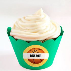 Basketball Party Personalized Cupcake Wrappers (Set of 24)