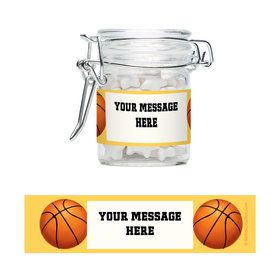 Basketball Party Personalized Glass Apothecary Jars (12 Count)