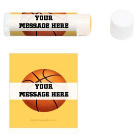 Basketball Party Personalized Lip Balm (12 Pack)
