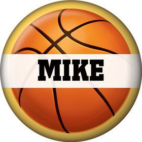 Basketball Party Personalized Mini Button (each)