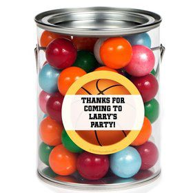 Basketball Party Personalized Paint Can Favor Container (6 Pack)