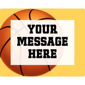 Basketball Party Personalized Rectangular Stickers (Sheet of 15)
