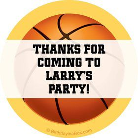 Basketball Party Personalized Sticker (sheet of 12)