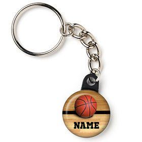 "Basketball Personalized 1"" Mini Key Chain (Each)"