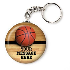 "Basketball Personalized 2.25"" Key Chain (Each)"