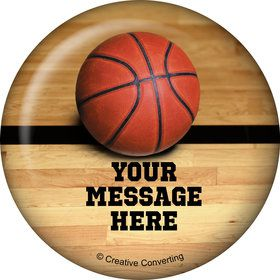 Basketball Personalized Button (Each)