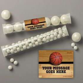 Basketball Personalized Candy Tubes (12 Count)