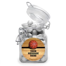 Basketball Personalized Glass Apothecary Jars (12 Count)