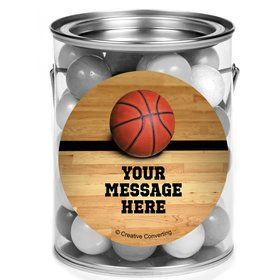 Basketball Personalized Mini Paint Cans (12 Count)