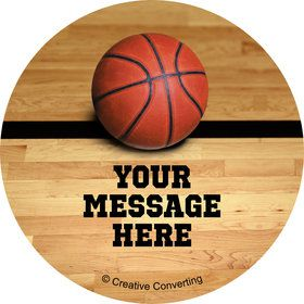 Basketball Personalized Mini Stickers (Sheet of 20)