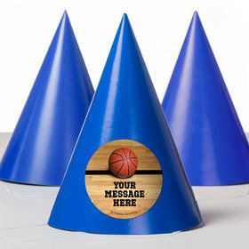 Basketball Personalized Party Hats (8 Count)