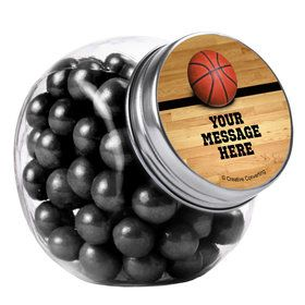 Basketball Personalized Plain Glass Jars (12 Count)