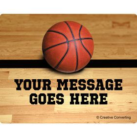Basketball Personalized Rectangular Stickers (Sheet of 15)