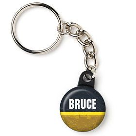 "Bat Blocks Personalized 1"" Mini Key Chain (Each)"