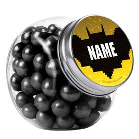 Bat Blocks Personalized Plain Glass Jars (12 Count)
